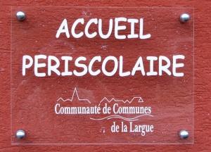 PLAQUE - PERISCOLAIRE